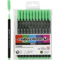 Colortime Fineliner , lijndikte 0,6-0,7 mm, lichtgroen, 12 stuk/ 1 doos