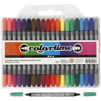 Colortime dubbelstift, lijndikte 2,3+3,6 mm, standaardkleuren, 20 stuk/ 1 doos