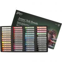 Gallery Soft Pastel Set, L: 6,5 cm, dikte 10 mm, diverse kleuren, 48 stuk/ 1 doos