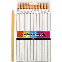 Colortime kleurpotloden, L: 17,45 cm, vulling 5 mm, JUMBO, licht beige, 12 stuk/ 1 doos