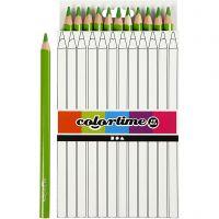Colortime kleurpotloden, L: 17,45 cm, vulling 5 mm, JUMBO, lichtgroen, 12 stuk/ 1 doos