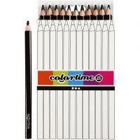 Colortime kleurpotloden, L: 17,45 cm, vulling 5 mm, JUMBO, zwart, 12 stuk/ 1 doos