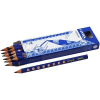 Groove grafiet potloden, d: 10 mm, hardheid B, vulling 4,25 mm, 12 stuk/ 1 doos