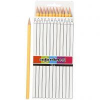 Colortime kleurpotloden, L: 17 cm, vulling 3 mm, licht beige, 12 stuk/ 1 doos
