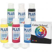 Plus Color acrylverf, primair kleuren, 6x60 ml/ 1 doos