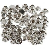 Rivets, d: 7 mm, zilver, 50 stuk/ 1 doos