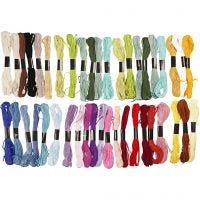 Borduurgaren, dikte 1 mm, diverse kleuren, 42 bol/ 1 doos