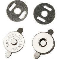 Magnetische sluiting, d: 18 mm, 4 stuk/ 1 doos