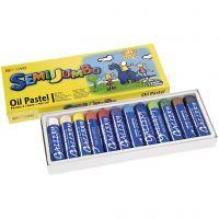 Mungyo Maxi oliepastel, dikte 17 mm, diverse kleuren, 12 stuk/ 1 doos