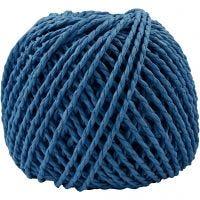Papier garen, dikte 2,5-3 mm, donkerblauw, 40 m/ 1 bol, 150 gr