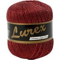 Lurex glitter garen, L: 160 m, rood, 25 gr/ 1 bol