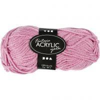 Fantasia acrylgaren, L: 80 m, roze, 50 gr/ 1 bol