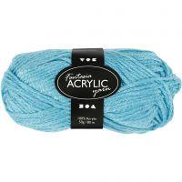 Fantasia acrylgaren, L: 80 m, turquoise, 50 gr/ 1 bol