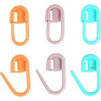 Steekmarkeerder, L: 22 mm, groen, oranje, paars, 30 stuk/ 1 doos