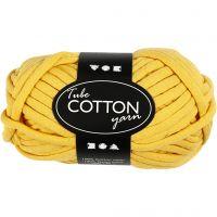 Textielgaren, L: 45 m, geel, 100 gr/ 1 bol