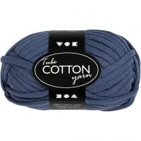 Textielgaren, L: 45 m, donkerblauw, 100 gr/ 1 bol