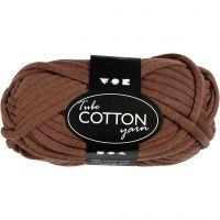 Textielgaren, L: 45 m, bruin, 100 gr/ 1 bol