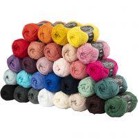 Katoengaren, afm 8/4, L: 170 m, diverse kleuren, 30x50 gr/ 1 doos