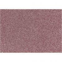 Opstrijkfolie, 148x210 mm, glitter, lichtrood, 1 vel