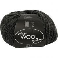Wolgaren, L: 125 m, donker grijs mix, 100 gr/ 1 bol