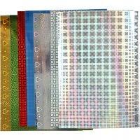 Holografisch papier, A4, 210x297 mm, 120 gr, 8 div vellen/ 1 doos
