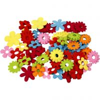 Bloemen van vilt, afm 35x45 mm, 135 stuk/ 1 doos