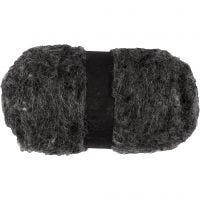 Gekaarde wol, natural grey, 100 gr/ 1 bol