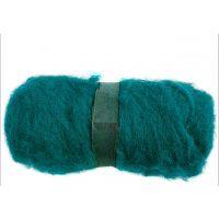 Gekaarde wol, groen, 100 gr/ 1 bol