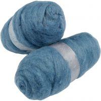 Gekaarde wol, hemelsblauw, 2x100 gr/ 1 doos