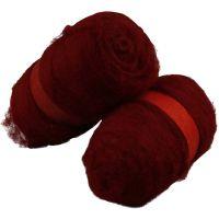Gekaarde wol, warm red, 2x100 gr/ 1 doos