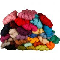 Merino wol, dikte 21 my, diverse kleuren, 32x100 gr/ 1 doos