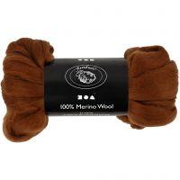 Merino wol, dikte 21 my, bruin, 100 gr/ 1 doos