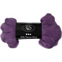 Merino wol, dikte 21 my, violet, 100 gr/ 1 doos