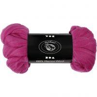 Merino wol, dikte 21 my, rood paars, 100 gr/ 1 doos