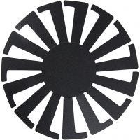 Sjabloon Mand weven, H: 8 cm, d: 14 cm, zwart, 10 stuk/ 1 doos