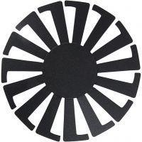 Sjabloon Mand weven, H: 6 cm, d: 8 cm, zwart, 10 stuk/ 1 doos