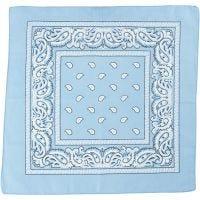 Bandana, afm 55x55 cm, lichtblauw, 1 stuk