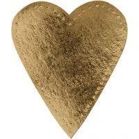 Hart, H: 12 cm, B: 10 cm, 350 gr, goud, 4 stuk/ 1 doos