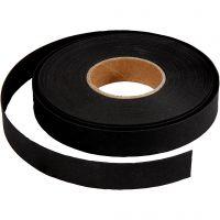 Vlechtstroken, B: 15 mm, dikte 0,55 mm, zwart, 9,5 m/ 1 rol