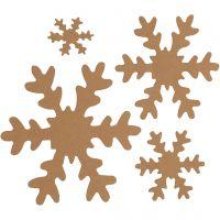 Sneeuwvlok, d: 3+5+8+10 cm, 350 gr, naturel, 16 stuk/ 1 doos