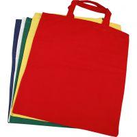 Tas, afm 38x42 cm, 135 gr, diverse kleuren, 5 stuk/ 1 doos