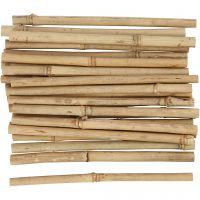 Stokken van bamboe, L: 20 cm, dikte 8-15 mm, 30 stuk/ 1 doos