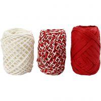 Papierkoord, rood/wit harmonie, 3x10 m/ 1 doos