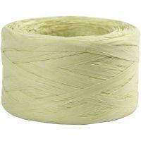 Papier raffia garen, B: 7-8 mm, lichtgroen, 100 m/ 1 rol