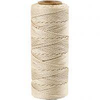 Bamboekoord, dikte 1 mm, off-white, 65 m/ 1 rol