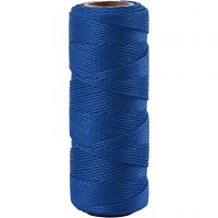 Bamboekoord, dikte 1 mm, blauw, 65 m/ 1 rol