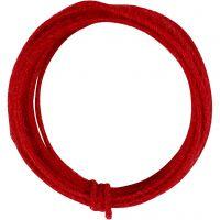 Jute koord, dikte 2-4 mm, rood, 3 m/ 1 doos