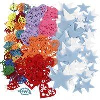 Vilten vorm, afm 40-60 mm, Inhoud kan variëren , diverse kleuren, 180 stuk/ 1 doos