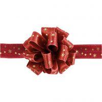 Susifix lint, B: 18 mm, goud, rood, 5 m/ 1 rol