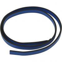Band van imitatie leer, B: 10 mm, dikte 3 mm, blauw, 1 m/ 1 doos